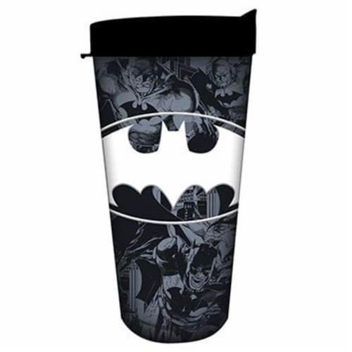 16 oz Gray Batman Multi Pose Collage Logo Domestic Tumbler Perspective: front