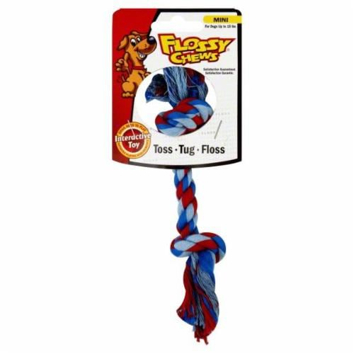 Flossy Chews Cotton Blend Rope Toy Perspective: front