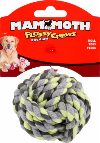 Mammoth Mini Blue Green Flossy Chew Toy Perspective: front
