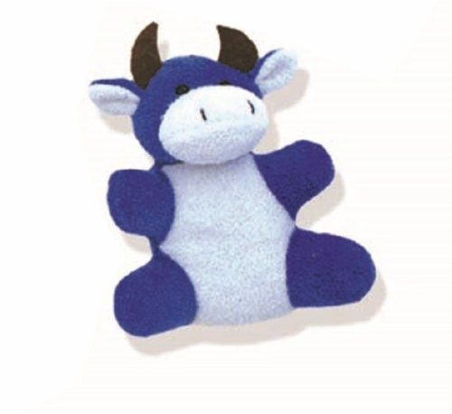 Mammoth Terry Cloth Animal Cuties Dog Toy Perspective: front