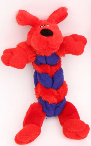 Mammoth Squeaky Freaks Small Red Dog Toy Perspective: front