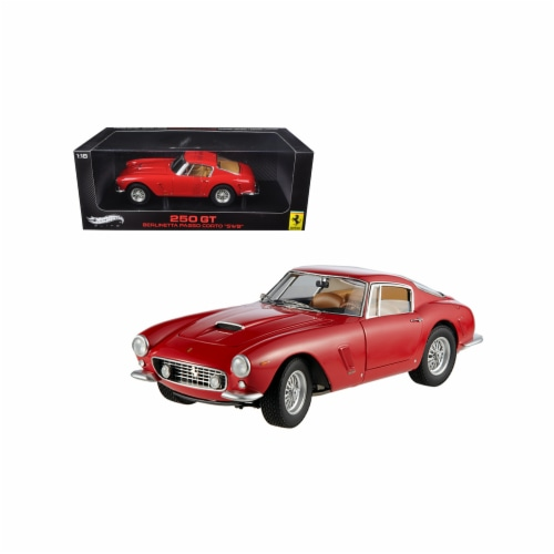 Hot wheels V8377 1 by 18 Scale Diecast 1961 Ferrari 250 GT Passo Corto SWB Elite Edition Red Perspective: front