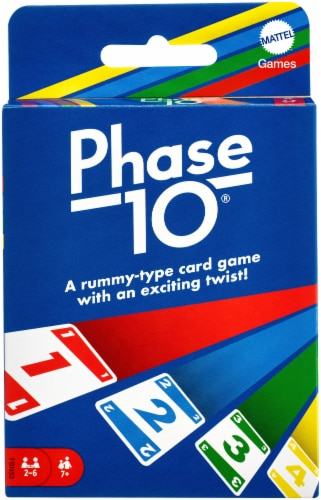 Mattel Phase 10 Card Game Perspective: front
