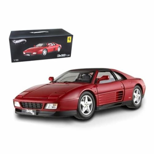 Ferrari 348 TS Elite Edition Red 1/18 Limited Edition by Hotwheels Perspective: front