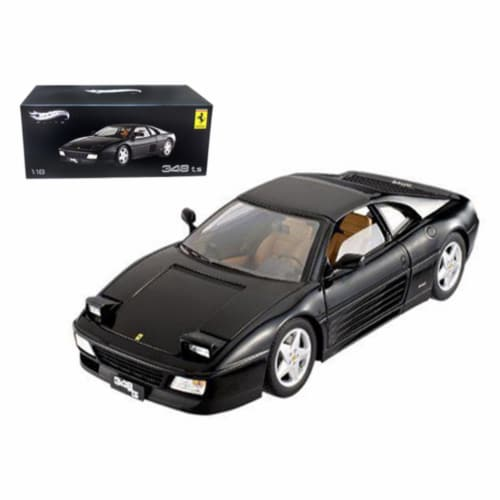 Ferrari 348 TS Elite Edition Black 1/18 Limited Edition by Hotwheels Perspective: front
