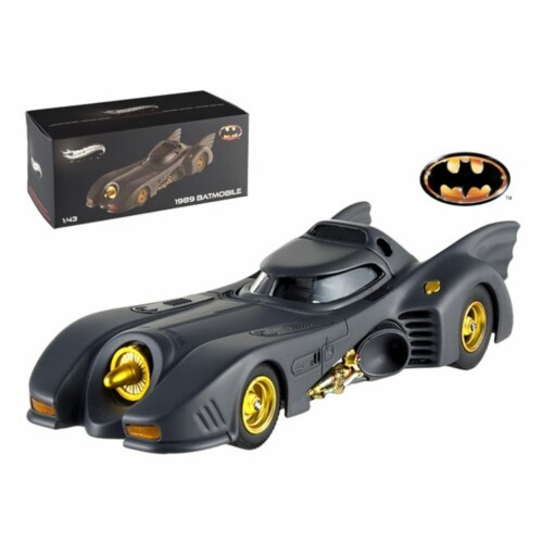 Hot wheels X5494 1989 Movie Batmobile Elite Edition 1-43 Diecast Model Car Perspective: front