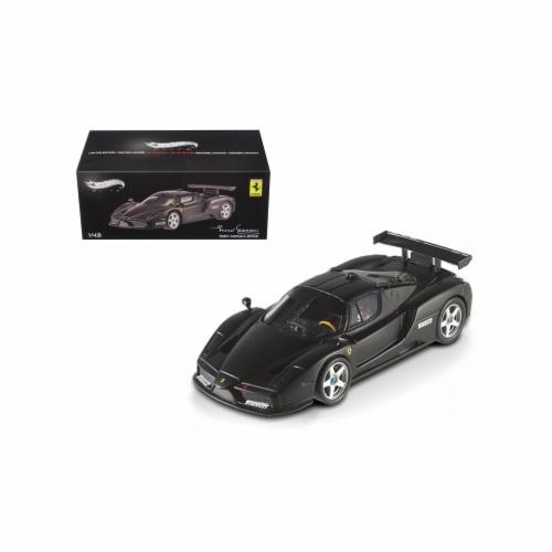 Hot wheels X5511 1 by 43 Diecast Ferrari Enzo 2003 Monza Test Car Matt Black Elite Edition Ca Perspective: front