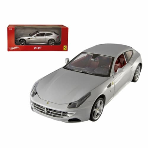 Ferrari FF Silver 1/18 Diecast Car Model by Hotwheels Perspective: front