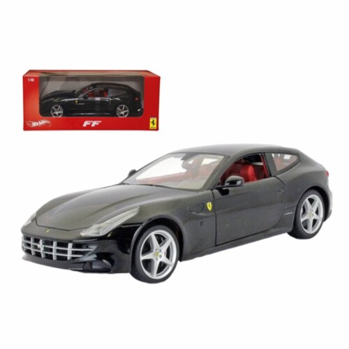 Ferrari FF Black 1/18 Diecast Car Model by Hotwheels Perspective: front
