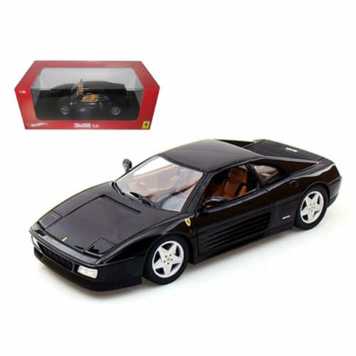 Hot wheels X5530 Ferrari 348 TB Black 1-18 Diecast Car Model Perspective: front