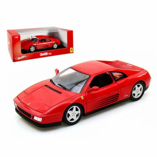 Ferrari 348 TB Red 1/18 Diecast Car Model by Hotwheels Perspective: front