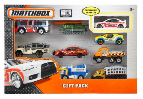 Mattel Matchbox Cars Gift-Pack 9 Count Perspective: front