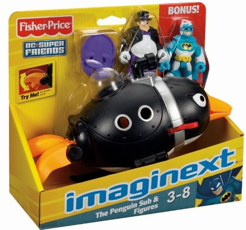 Fisher-Price® Imaginext® Super Friends Penguin and Batman Figures Perspective: front