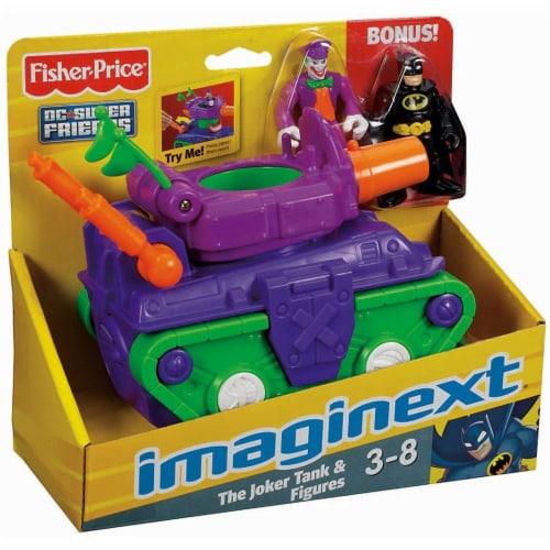 Fisher-Price® Imaginext® Joker Tank & Batman Figures Perspective: front