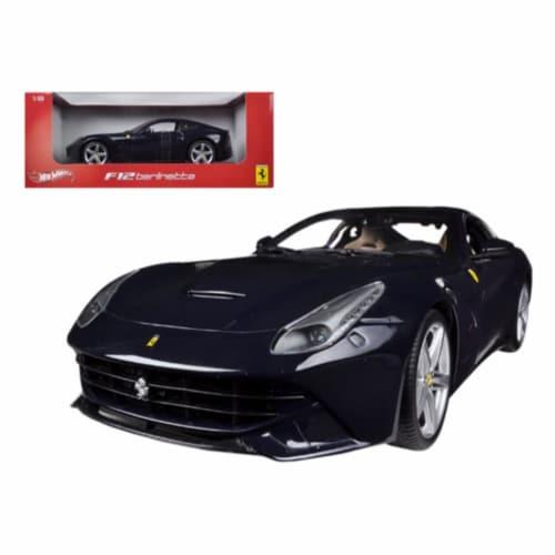 Hot wheels BCJ73 Ferrari F12 Berlinetta Blue 1-18 Diecast Model Car Perspective: front
