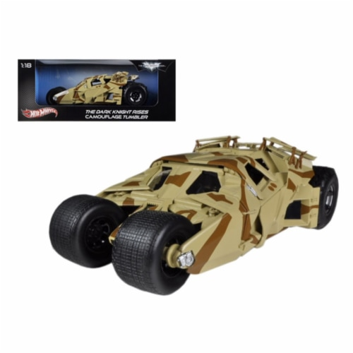 \The Dark Knight Rises\ Batmobile Tumbler Camouflage 1/18 Diecast Car Model by Hotwheels Perspective: front