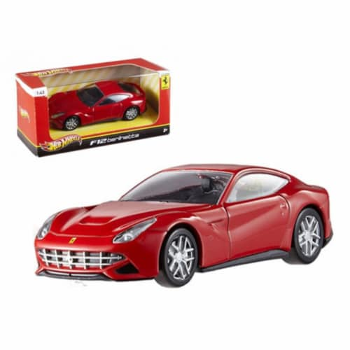 Hot wheels BCJ79 Ferrari F12 Berlinetta Red 1-43 Diecast Car Model Perspective: front