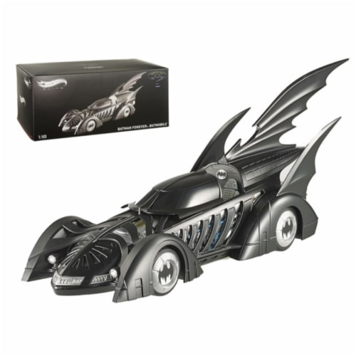 1995 Batman Forever Batmobile Elite Edition 1/18 Diecast Car Model by Hotwheels Perspective: front