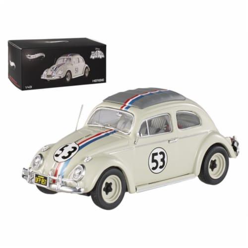 1962 Volkswagen Beetle \The Love Bug\ Herbie #53 Elite Edition 1/43 Diecast Car Model Perspective: front