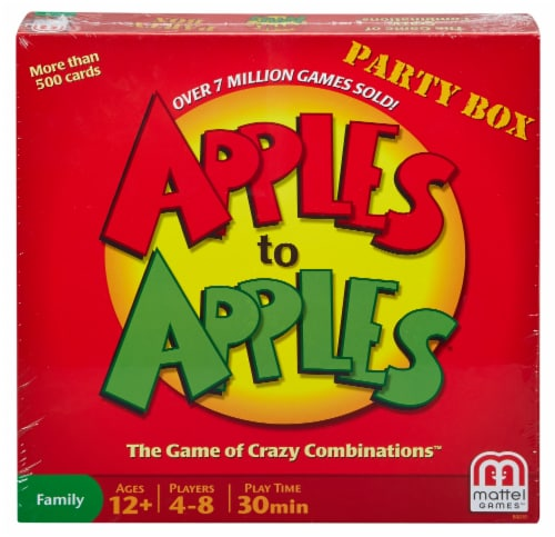 Mattel Apples to Apples® Party Box Board Game Perspective: front