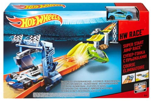 Mattel Hot Wheels® HW Race™ Super Start Jump Race™ Track Set Perspective: front