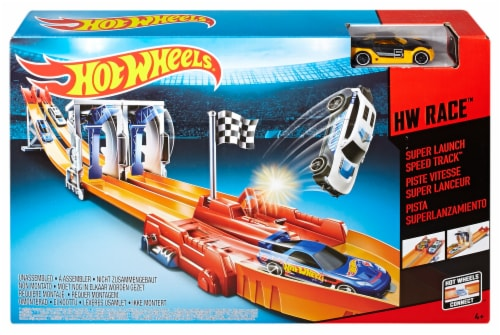 Mattel Hot Wheels® HW Race™ Super Launch Speed Track™ Set Perspective: front