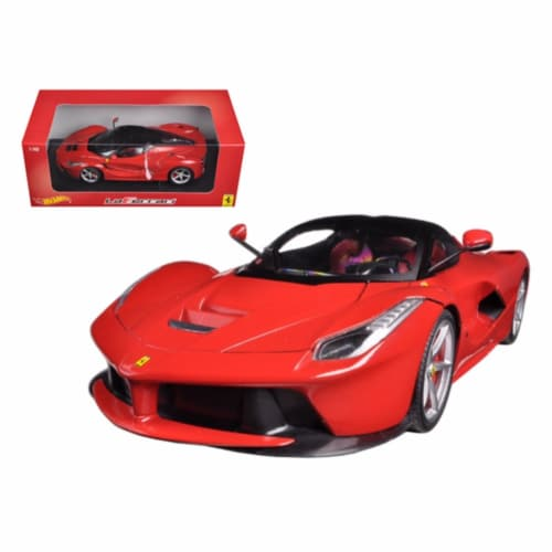 Hot wheels BLY52 Ferrari Laferrari F70 Hybrid Red 1-18 Diecast Car Model Perspective: front