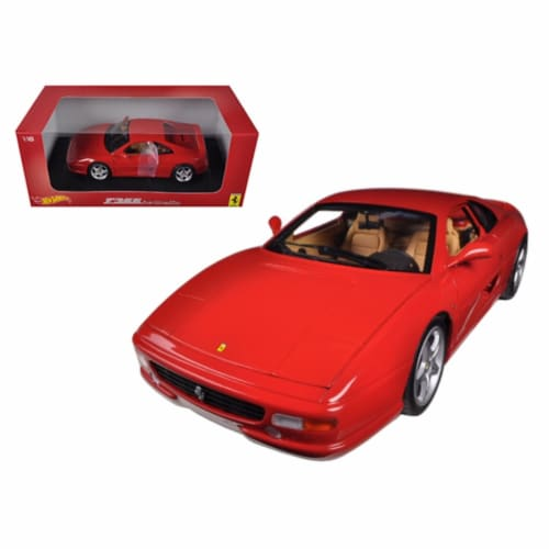 Hot wheels BLY57 Ferrari F355 Berlinetta Coupe Red 1-18 Diecast Car Model Perspective: front