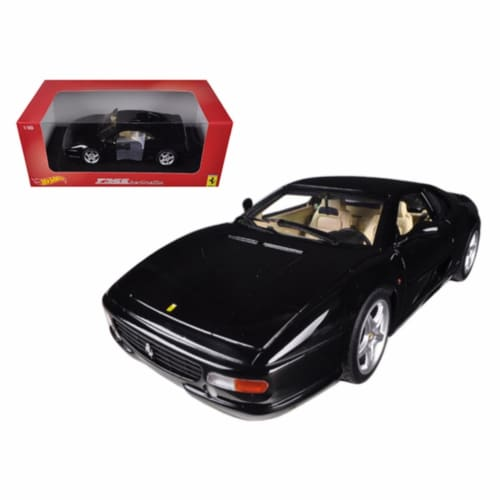 Hot wheels BLY58 Ferrari F355 Berlinetta Coupe Black 1-18 Diecast Car Model Perspective: front