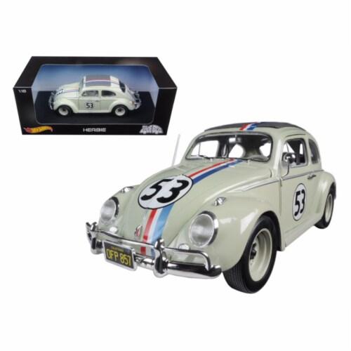 Volkswagen Beetle \The Love Bug\ Herbie #53 1/18 Diecast Model Car by Hotwheels Perspective: front