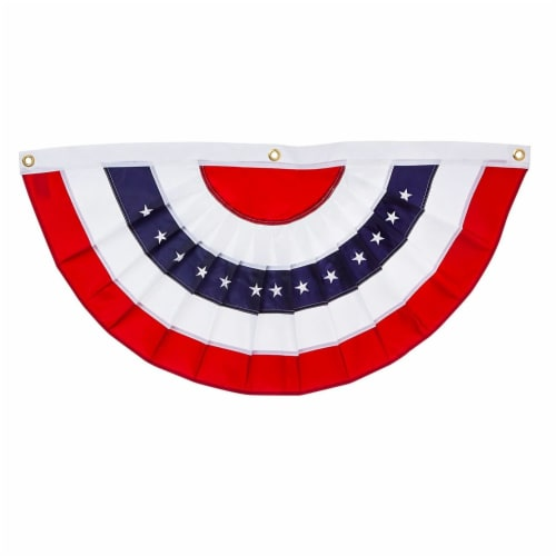 Evergreen Garden Medium Patriotic Bunting Perspective: front