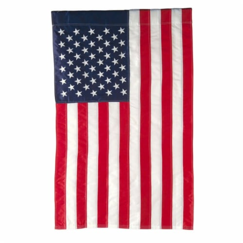 American Flag House Applique Flag Perspective: front