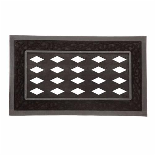 Evergreen Garden Sassafras Collection Mat Tray - Black Perspective: front