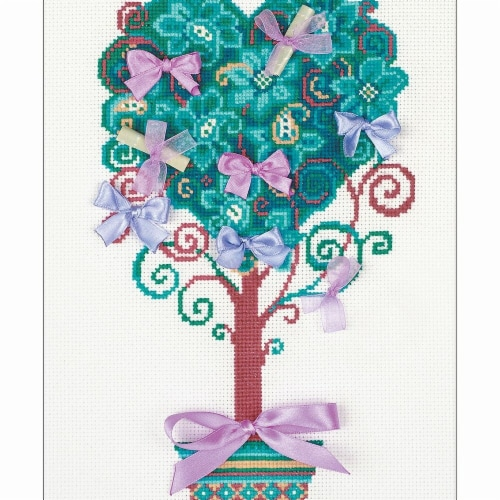 Tree Of Desire Counted Cross Stitch Kit Perspective: front