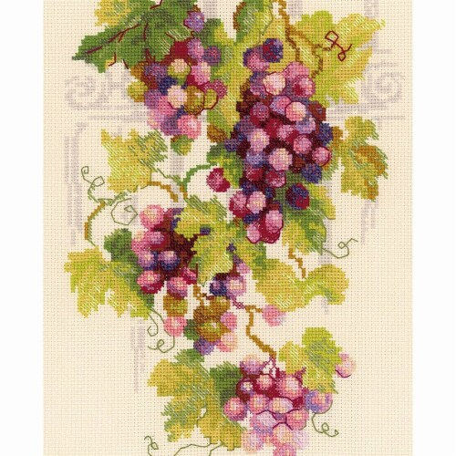 8.25 x 11.75 in. Grapevine Counted Cross Stitch Kit - 14 Count Perspective: front