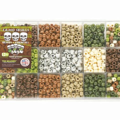 21.5 oz Extravaganza Bead Box Kit - Camo & Skulls Perspective: front