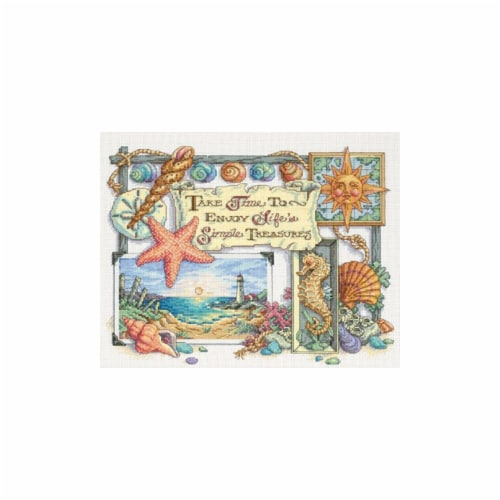 Simple Treasures Counted Cross Stitch Kit-14''X11'' 14 Count Perspective: front