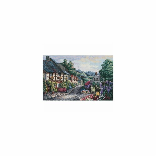 Gold Collection Memory Lane Counted Cross Stitch Kit-17''X11'' 16 Count Perspective: front