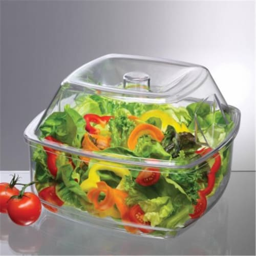 Flip Lid Salad on Ice Bowl Perspective: front