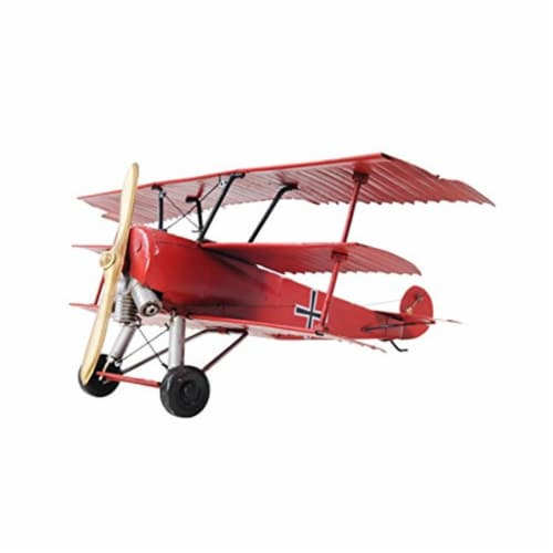 1917 Red Baron Fokker Triplane Model Airplane Perspective: front