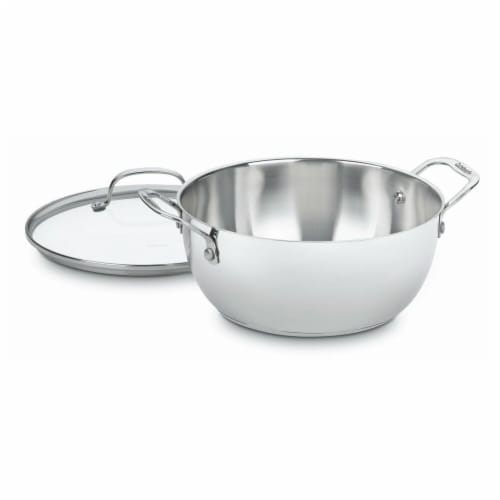 Chefs Classic Stainless Multi - Purpose Pot - 5.5 Quart Perspective: front