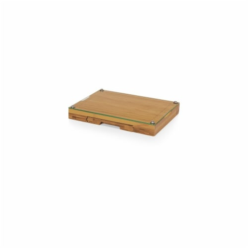 Concerto Cutting Board Tray & Cheese Tools Set - Bamboo Perspective: front