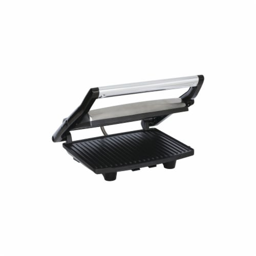 1000W Panini-Contact Grill, Metallic Perspective: front