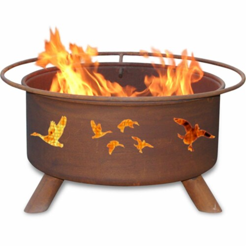 Wild Ducks Fire Pit Perspective: front