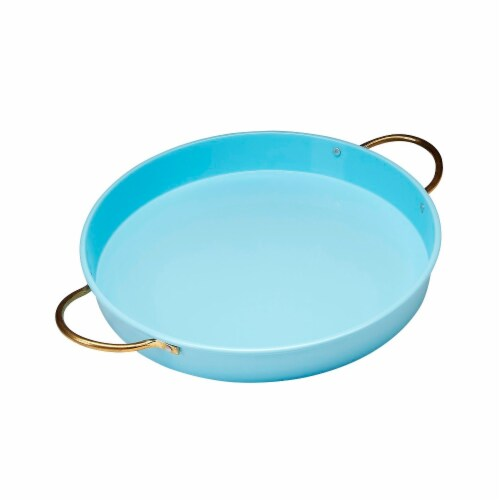 Vento 14.5 in. Turquoise Tray Perspective: front