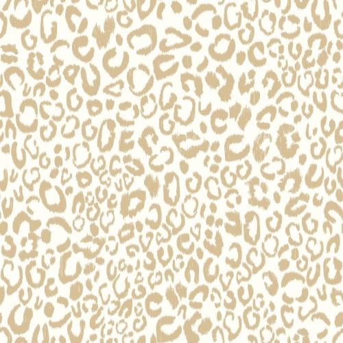 Leopard Peel & Stick Wallpaper, Gold Perspective: front