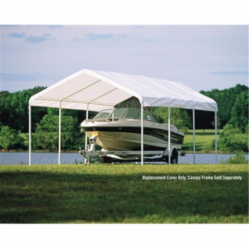 12×20 White Canopy Replacement Cover  Fits 2 in.  Frame Perspective: front