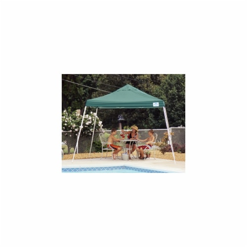 12x12 SL Pop-up Canopy  Green Cover  Black Roller Bag Perspective: front