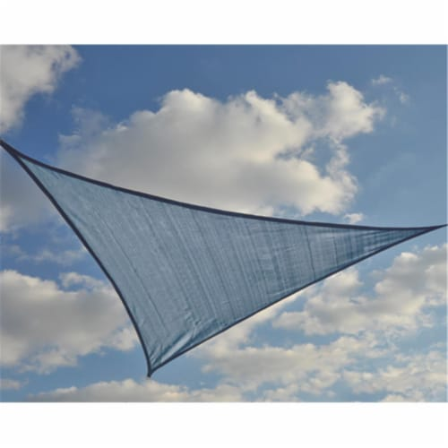 16 ft. - 4 9 m Triangle Shade Sail - Sea 230 gsm Perspective: front