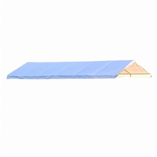 18×40 Canopy White Replacement Cover for 2 in. Frame; FR Rated Perspective: front